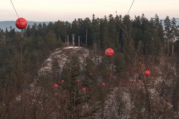 Signalizačné balóny v Prielome Hornádu.