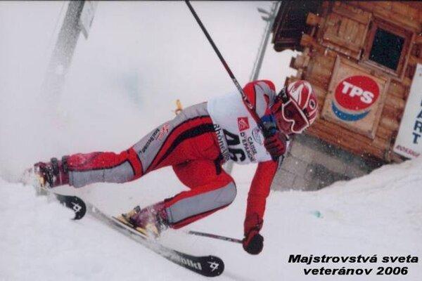 Anna Blahutová (Droppová) na majstrovstvách sveta veteránov roku 2006