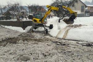 V Ľubietovej hrozila vo februári ľadová povodeň, hrozbu sa podarilo odstrániť.