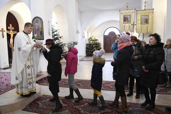 Liturgia v Katedrálnom chráme sv. Alexandra Nevského.