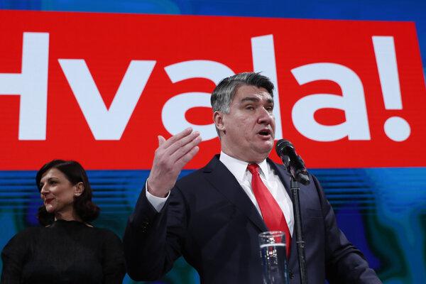 Bývalý premiér Zoran Milanovič (na snímke) sa stal víťazom druhého kola chorvátskych prezidentských volieb v Záhrebe 5. januára 2020.