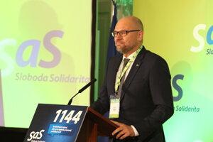 Predseda strany SaS Richard Sulík pred začiatkom programovej konferencie strany Sloboda a Solidarita (SaS) v historickej budove NR SR. Bratislava, 11. január 2020.