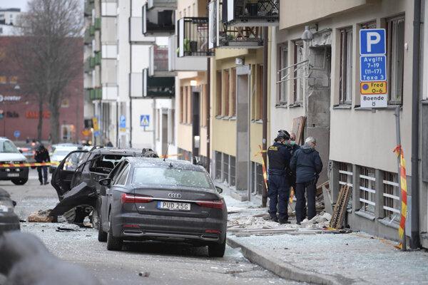 Polícia vyšetruje explóziu v Štokholme.