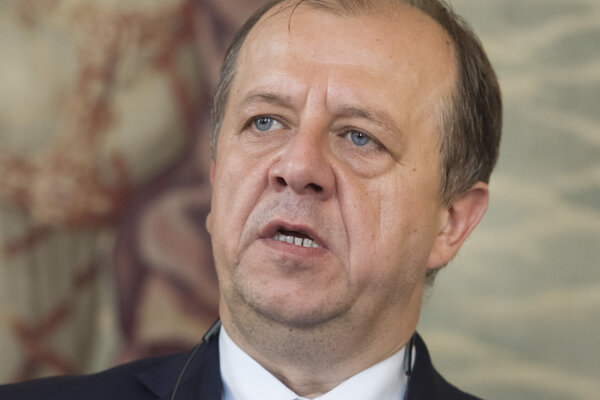 Prezident Únie miest Slovenska (ÚMS) a trenčiansky primátor Richard Rybníček.