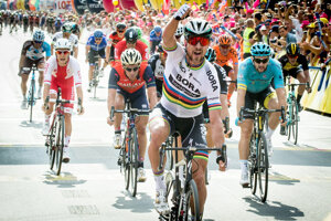 Cyklista Peter Sagan počas prvej etapy pretekov Okolo Poľska 2017.