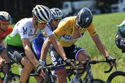 Roman Kreuziger s Petrom Saganom na pretekoch Okolo Švajčiarska.