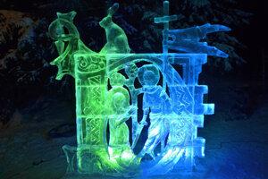 Jedna z ľadových kreácií Tatry Ice Master 2019.