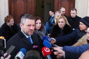 Peter Pellegrini (Smer-SD) a Andrea Turčanová (KDH) rokovali o situácii po výbuchu plynu v bytovom dome.
