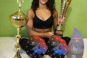 Dvojnásobná majsterka sveta v kategórii žien vo fitnes Kristína Juricová.