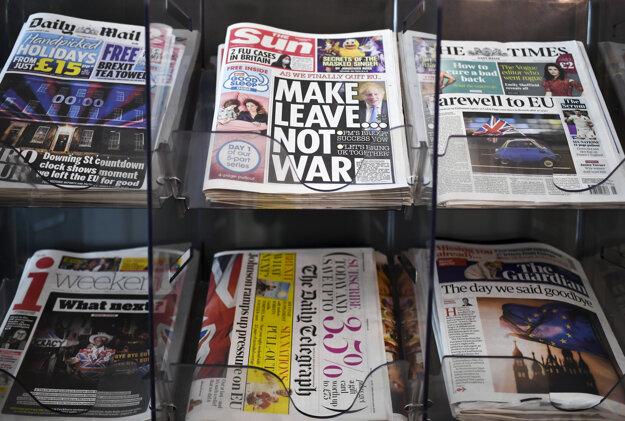 Titulky britských denníkov.
