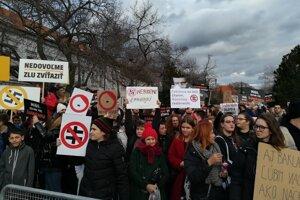 Protest v Trnave.