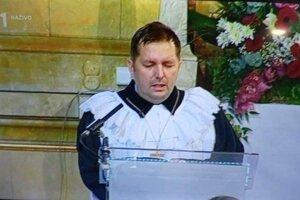 Peter Mihoč, slávnosť prenášala RTVS.