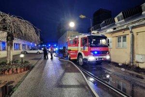 Záasah hasičov v Petržalke.