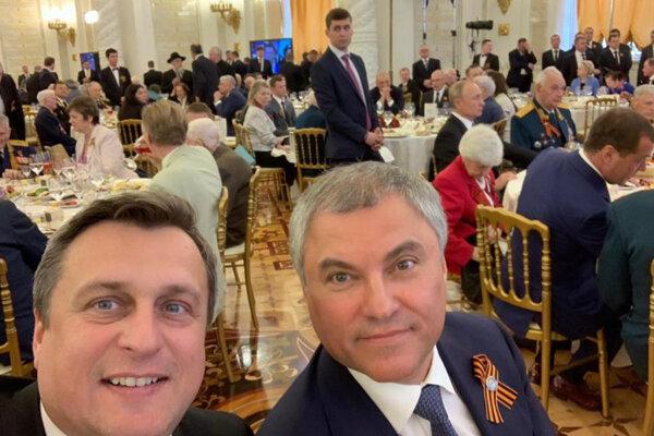Šéf SNS Andrej Danko s Vjačeslavom Volodinom.