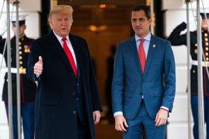 Donald Trump prijal v Bielom dome Juana Guaidóa.