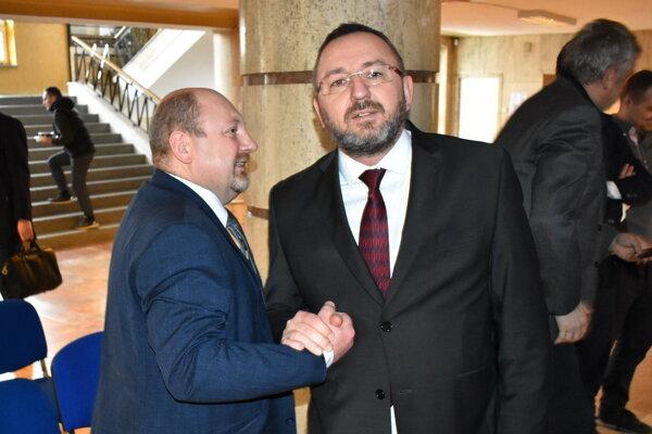 Jozef Hudák (vľavo) a Miroslav Mikloš tesne po žrebe.