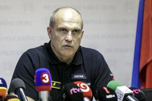 Na snímke prezident Policajného zboru SR Milan Lučanský.