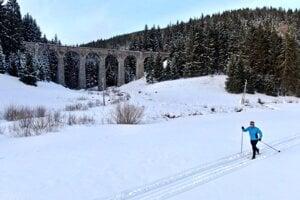 Tak toto je lahôdka. Sneh, bežky a Chmarošský viadukt