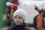Greta Thunbergová na klimatickom proteste v Štokholme 14. februára 2020.