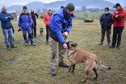 Peter Mičúch predvádza ako sa dá temperametnejší psík motivovať nie len jedlom, ale aj loptičkou.