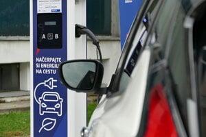 Nabíjacia stanica pre elektromobily v Martine.