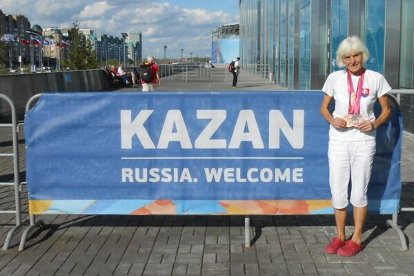 Mária Hausnerová v Kazani.