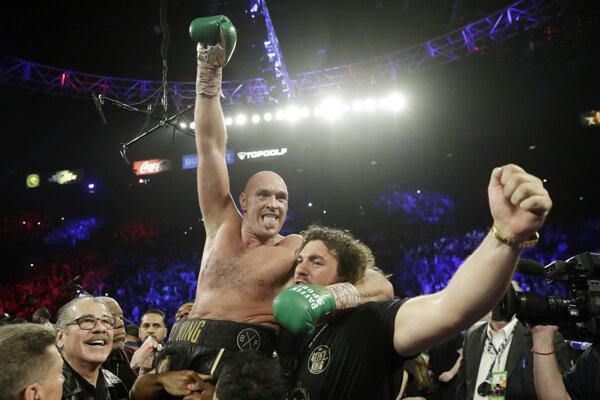 Tyson Fury po triumfe nad Deontayom Wilderom.