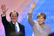 Armin Laschet a nemecká kancelárka Angela Merkelová.