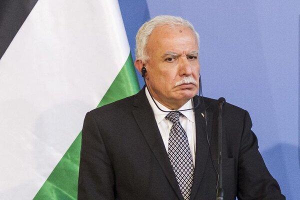 Palestínsky minister zahraničných vecí Rijád Malíkí.