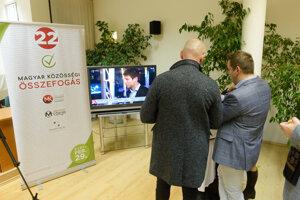 Voľby 2020: Volebná centrála Maďarskej komunitnej spolupatričnosti.