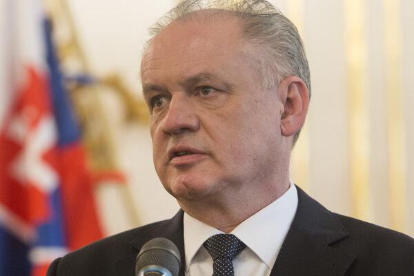 Voľby 2020: Andrej Kiska po prijatí u prezidentky.