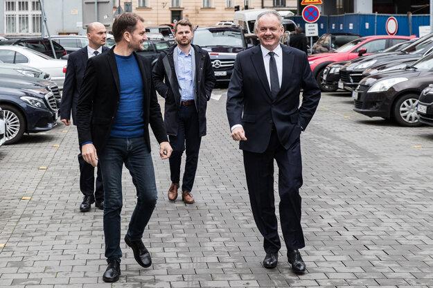 Voľby 2020: Igor Matovič na stretnutí s Andrejom Kiskom.