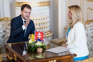 Voľby 2020: Prezidentka Zuzana Čaputová prijala víťaza volieb Igora Matoviča a poverila ho zostavním vlády.