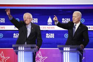 O nomináciu bojujú najmä Sanders (vľavo) a Biden.