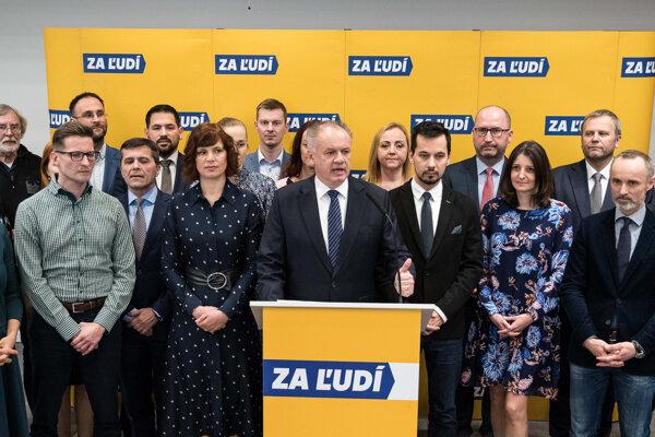 Voľby 2020: Andrej Kiska predstúpil po predsedníctve strany pred novinárov.