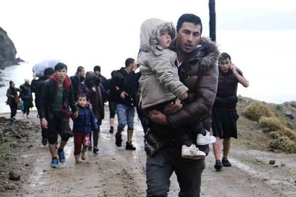 Utečenci na ostrove Lesbos.