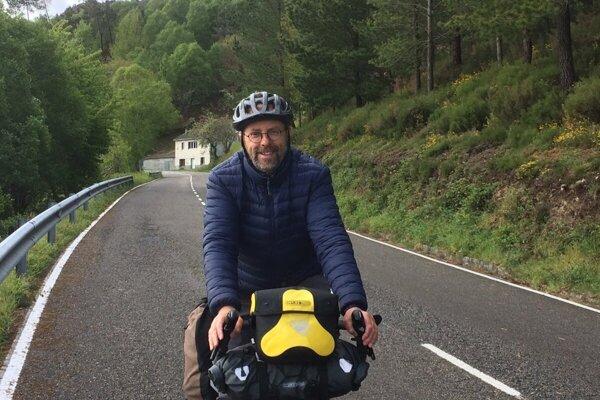 Graham Strouts na Camino de Santiago.