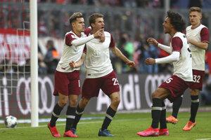 Radosť hráčov Bayernu Mníchov.