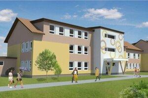 Vizualizácia budovy detských jaslí.