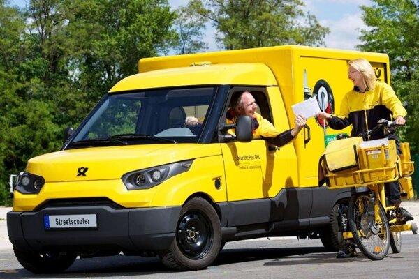 StreetScooter Work v službách Deutsche Post.