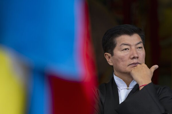 Tibetský exilový premiér Lobsang Sangaj.