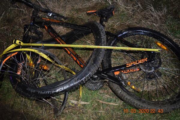 Bicykel po náraze.
