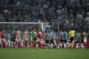 Zápas Allegre proti Internacional.