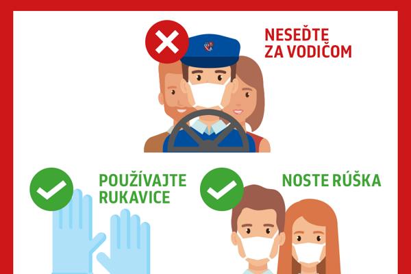 Na autobusoch všetkých prímestských liniek pribudnú od pondelka 16. marca letáky s odporúčaniami a zákazom sedenia na sedadlách za vodičom.