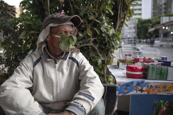 Predavač v marockom meste Rabat.