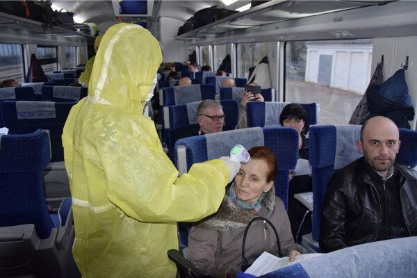 Kontrla cestujúcich. Ilustračné foto