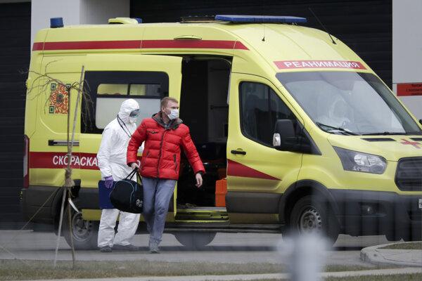 Zásah zdravotníkov Moskve.