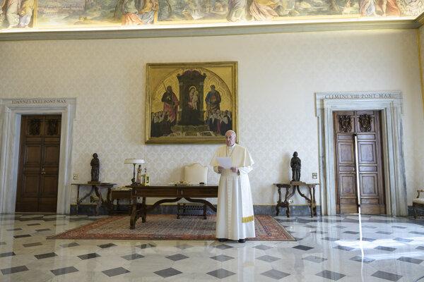 Modlitba pápeža Františka.
