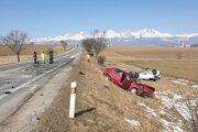 Pre nehodu bola na niekoľko hodín cesta úplne uzavretá.