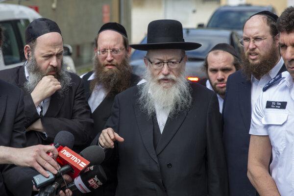 Izraelský minister zdravotníctva Jaakov Litzman.